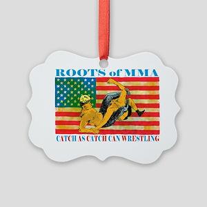 catch wrestling ready - Copy (2)3 Picture Ornament