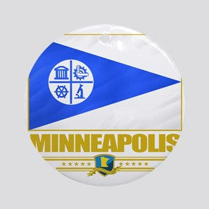Minneapolis (Flag 10) Round Ornament