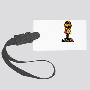 evolution of man bomb use trans Large Luggage Tag
