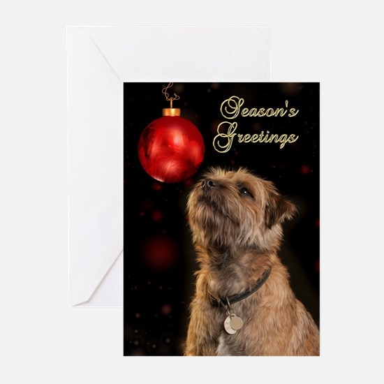 Border Terrier Holiday Greeting Cards (pk Of 20)