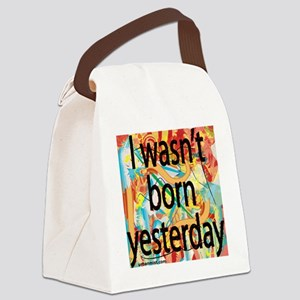 born-yest-graph Canvas Lunch Bag