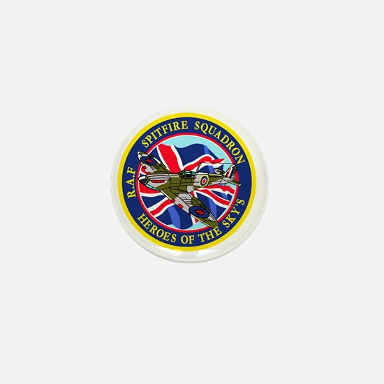 SPITFIRE w.UK flag Mini Button