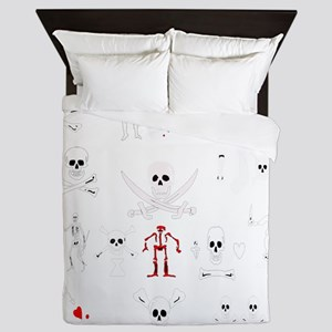 Pirate Montage Queen Duvet