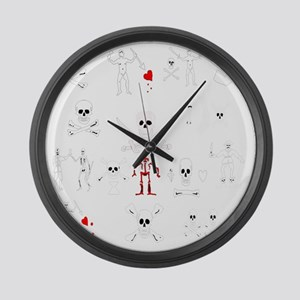 Pirate Montage Large Wall Clock