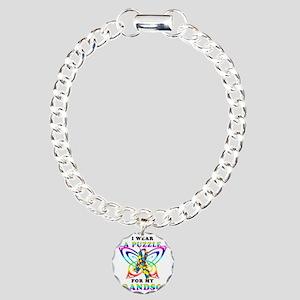I Wear A Puzzle for my G Charm Bracelet, One Charm