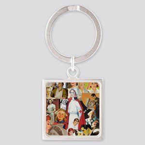 nurse collage poster Square Keychain