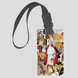 nurse collage poster Large Luggage Tag