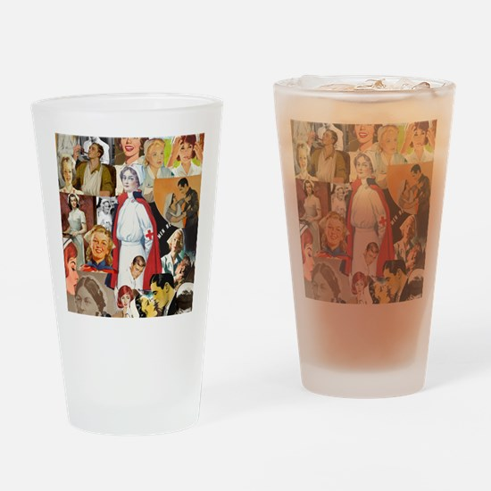 nurse collage poster Drinking Glass