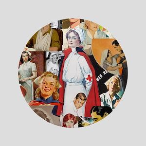 "nurse collage poster 3.5"" Button"
