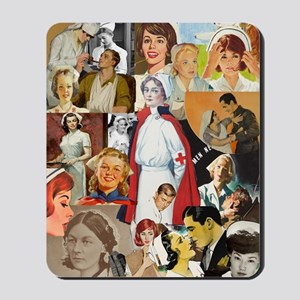 nurse collage poster Mousepad