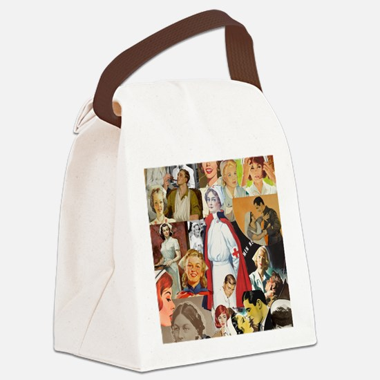 nurse collage poster Canvas Lunch Bag