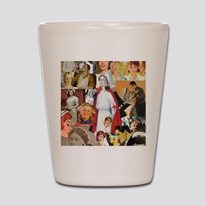 nurse collage poster Shot Glass