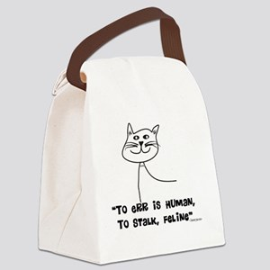 To ERr Human CATS Black Canvas Lunch Bag
