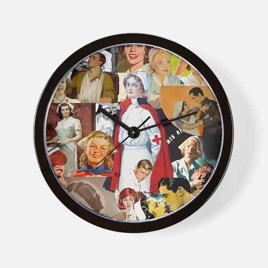 nurse collage mousepad Wall Clock