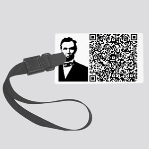 LINCOLN_VICES_VIRTUE Large Luggage Tag