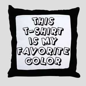 favorite-color-white Throw Pillow