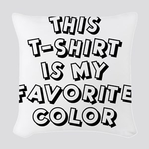 favorite-color-white Woven Throw Pillow