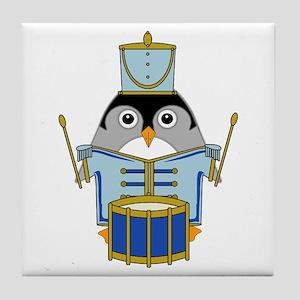 Little Drummerguin Tile Coaster