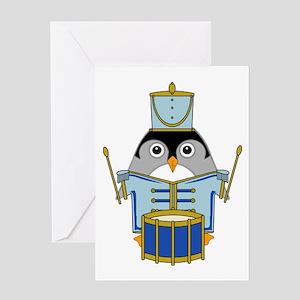 Little Drummerguin Greeting Card
