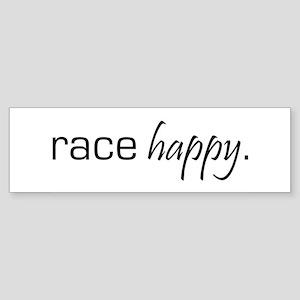 Race Happy Bumper Sticker