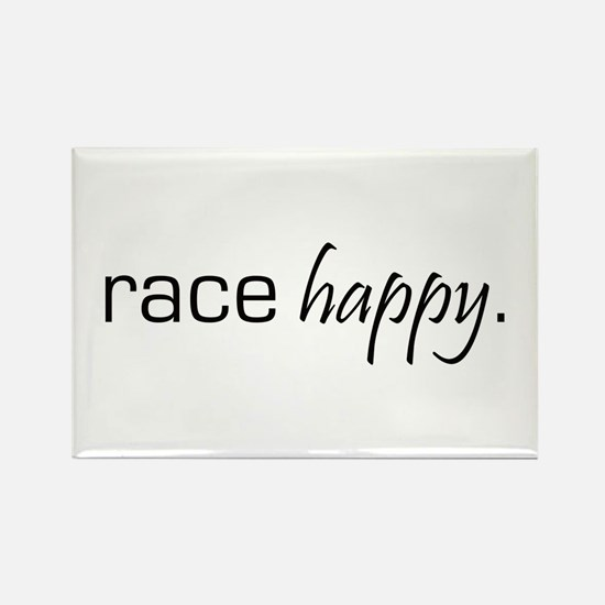 Race Happy Rectangle Magnet