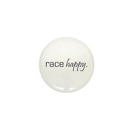 Race Happy Mini Button