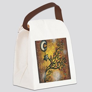 Golden Tree Canvas Lunch Bag