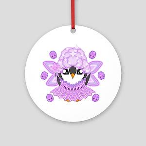 Sugarplumfairyguin Round Ornament