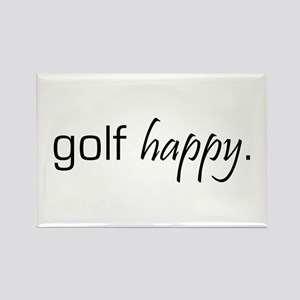 Golf Happy Rectangle Magnet