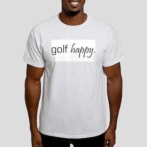 Golf Happy Ash Grey T-Shirt