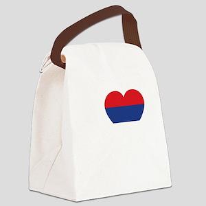Nole Serbia -dk Canvas Lunch Bag