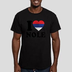 Nole Serbia Men's Fitted T-Shirt (dark)