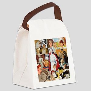 nurse collage pillow Canvas Lunch Bag