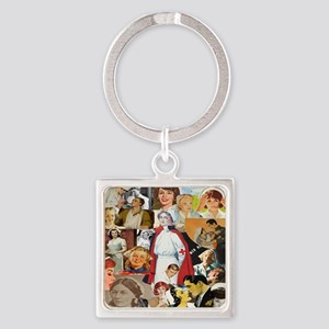 nurse collage pillow Square Keychain