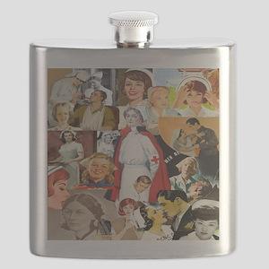 nurse collage pillow Flask