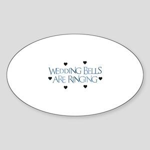 Wedding Bells Are Ringing - F Oval Sticker
