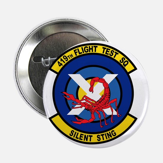 "419th Flight Test Squadron 2.25"" Button"