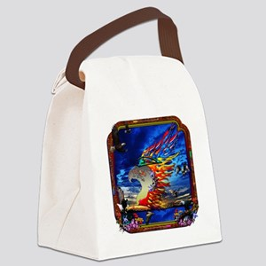 Good Hunting Eagle Sky background Canvas Lunch Bag