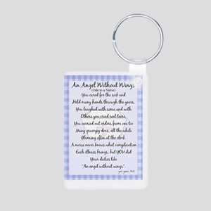 An Angel without wings BLU Aluminum Photo Keychain