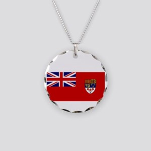 Canada-Red-postWWII Necklace Circle Charm