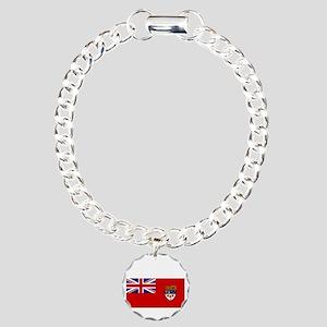 Canada-Red-postWWII Charm Bracelet, One Charm