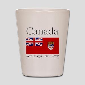 Canada-Red-postWWII-Light Shot Glass