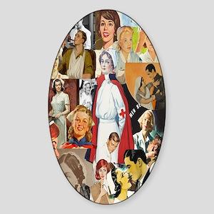 nurse collage journal Sticker (Oval)