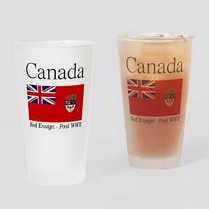 Canada-Red-postWWII-Light Drinking Glass