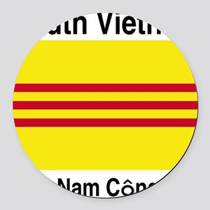 South-Vietnam-Light Round Car Magnet