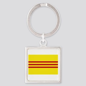 South-Vietnam-Dark Square Keychain