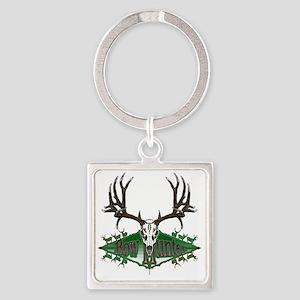 mule deer skull Square Keychain