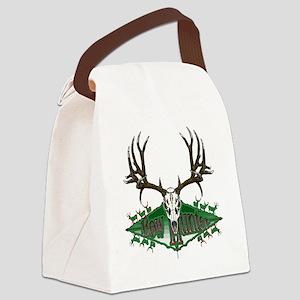 mule deer skull Canvas Lunch Bag