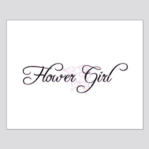 Flower Girl - Vintage Pink Small Poster