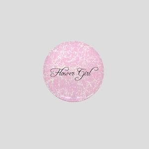 Flower Girl - Vintage Pink Mini Button
